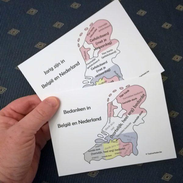 Set postkaarten 'Jarig zijn' + 'Bedanken'
